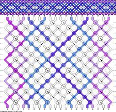 Muster # 48296, Streicher: 20 Zeilen: 16 Farben: 8