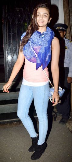 Alia Bhatt while leaving popular Mumbai restaurant Lido Room.