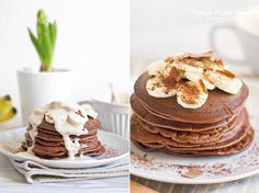 Healthy Chocolate Pancakes on my Blog