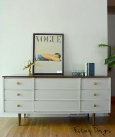 painted mid century credenza - Google Search