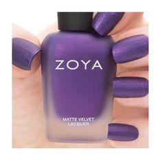 Zoya Nail Polish ZP504  Savita  Purple Nail Polish Metallic Nail Polish: Savita by Zoya can be best described as a bold, vibrant medium purple with strong red and gold shimmer with a velvet MATTEVELVET finish. A new take on the matte trend for fall/winter with a pop of bold color.