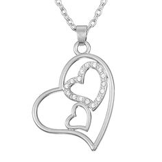 Silver Plated Hollowed Triple Heart Pendant Charm Womens Necklace Birthday Valentines Day Gifts //Price: $11.99 & FREE Shipping //     #accessories #necklaces #pendants #earrings #rings #bracelets    FREE Shipping Worldwide     Get it here ---> https://www.myladyempire.com/silver-plated-hollowed-triple-heart-pendant-charm-womens-necklace-birthday-valentines-day-gifts/