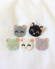 Chatons trop mignons _ Broches en Miyukis, méthode Brick Stitch _ by Charlotte ... - #Brick #Broches #Charlotte #Chatons #en #méthode #mignons #Miyukis #stitch #trop