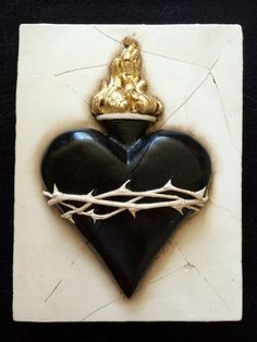 Sacred Heart artwork by Pamela de Somov by RomanceYourHome on Etsy, $79.95