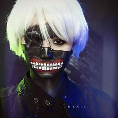 A closer look at Ken Kaneki Tokyo Ghoul collab with @michellephan and @jkissamakeup is linked in my bio! So happy so many of you are as excited about this as I have been :)