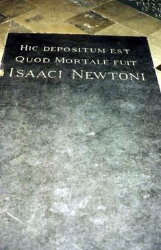 """Sir Isaac Newton (1642 - 1727) He was one of the most important scientists of all time. President of the Royal Society, Physicist, astronomer, inventor, mathematician. You may have also heard of the """"theory of relativity""""."""