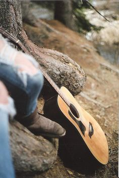 playing music at the lake