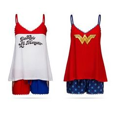 WW in large would be cute! DC Comics Lace Tank and Shorts Sleep Set Lazy Day Outfits, Summer Outfits, Cute Outfits, Lace Camisole, Lace Tank, Dc Comics, Mode Chanel, Cami Set, Geek Fashion