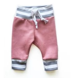 Striped dusty rose joggers Baby-Toddler joggers