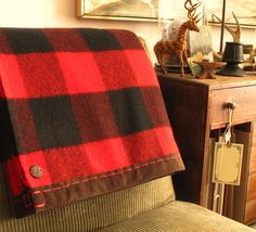 this type of plaid as accents in the house..possibly for the dinning room chair backs