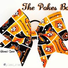 "Cheer bow of the day. by @glitzed_cheer ""The pokes bow is a crowd favorite!  #dance #osu #gopokes #pokes #oklahomastate #oklahomastateuniversity#cheerbow #cheerbows #beautiful #cheer #cheerleading #cheerleader #cheerleaders #allstarcheer #allstarcheerleading #cheerislife #bows #hairbow #hairbows #hairaccessories #bigbows #bigbow #fabricbows #hairclips #sparkle #instafashion #fashion #dance #instacute#instacheer"