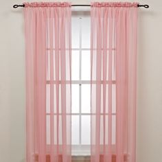 Fashion Pink Door Window Curtain Drape Panel Or Scarf Assorted Sheer Voile