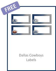 American Football Dallas Cowboys Party Set - Creative Printables