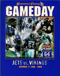 Randall McDaniel - Inducted into the NFL Hall of Fame. Autographed game day program.