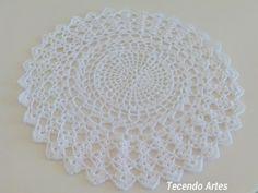 Tecendo Artes em Crochet: Novo Sousplat - Criação Minha!