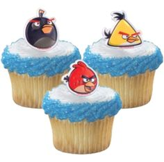 Cupcake Favor Rings - Angry Birds (24) - Classic Style