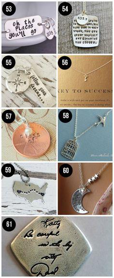 Sweet, meaningful jewelry graduation gift ideas