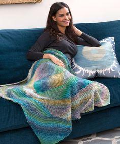 Spiral Knit Lapghan - free pattern