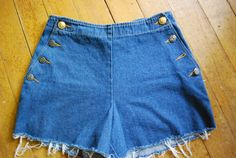 Vintage jean short cut offs SIZE SM by CerealVintageThrift on Etsy, $15.00