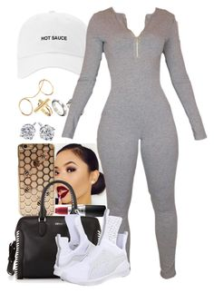 A fashion look from March 2016 featuring mesh shoes, Alexander McQueen and cross charm. Browse and shop related looks. Boujee Outfits, Cute Lazy Outfits, Baddie Outfits Casual, Swag Outfits For Girls, Teenage Girl Outfits, Curvy Outfits, Dope Outfits, Teen Fashion Outfits, Polyvore Outfits