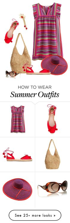 """""""Casual Summer In Style"""" by bb60477 on Polyvore featuring Flora Bella, Castañer, Aquazzura, Rosantica and Fendi"""