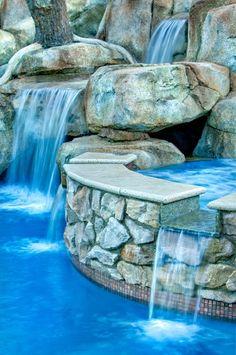 cool twist ...  waterfalls  #pools