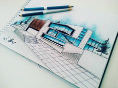 """57 Beğenme, 1 Yorum - Instagram'da vedat akkurt (@vdtakkrt): """"#arts #architecture #architecturelovers #archdaily #sketch #sketch_arq #sketchbook #rendering…"""""""