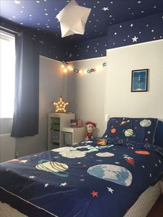 55 Adorable Kid's Bedroom Ideas and Designs — RenoGuide - Australian Renovat. 55 Adorable Kid's Bedroom Ideas and Designs — RenoGuide - Australian Renovation Ideas and Inspiration Boys Space Bedroom, Outer Space Bedroom, Big Boy Bedrooms, Kids Bedroom Designs, Kids Room Design, Baby Bedroom, Boy Room, Room Girls, Comfy Bedroom