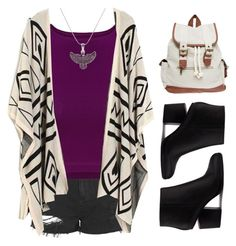 """""""School Style #46"""" by jyfashion ❤ liked on Polyvore featuring Topshop, Alex and Ani, Alexander Wang, Wet Seal, BackToSchool, ankleboots and schoolstyle"""