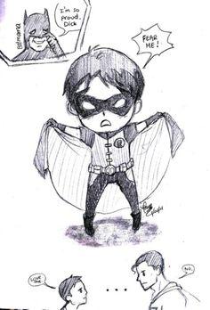 Robin Batman Superboy Superman Young Justice Cute
