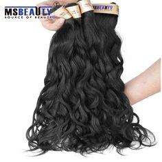Msbeauty Curly Weave Hair Peruvian Hair Virgin Hair Produts Grade 6A  Peruvian Natural wave Hair