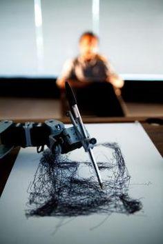 Tresset robot artist: Artist engineers robots to make art and save his own sanity. - Slate Magazine