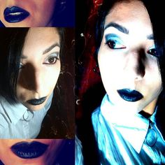 black&white strong makeup