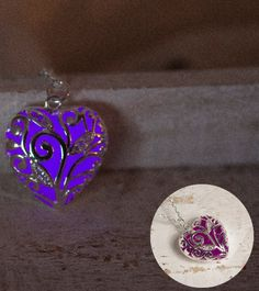 Purple Glow Necklace - Glow in the Dark Jewelry - Epic Glows