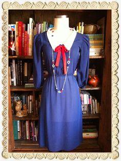 Vintage 1970s Howdy Sailor Dress