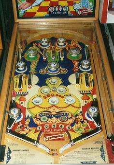 Old pinball machine.