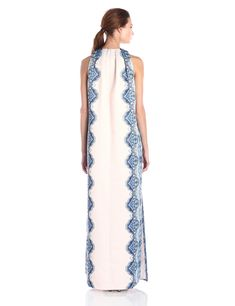 eef5fcf70f Amazon.com  Cynthia Rowley Women s Column Dress with Pleats