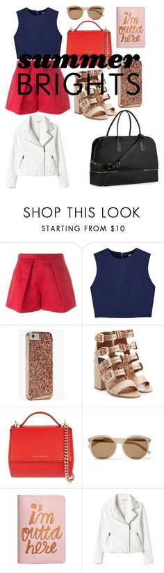 """Summer Brights: Travel to Monte Carlo"" by design360 ❤ liked on Polyvore featuring MSGM, Alice + Olivia, Case-Mate, Laurence Dacade, Givenchy, Yves Saint Laurent, ban.do, Rebecca Taylor, Kate Spade and summerbrights"
