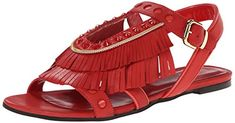 Just Cavalli Women's Flat with Fringe Dress Sandal, Geranium, 40 EU/10 M US Just Cavalli http://www.amazon.com/dp/B00QM8RMR8/ref=cm_sw_r_pi_dp_5Hpjvb0NV6MT2