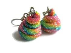"""Unicorn Poop Rainbow Jewelry Earrings Pony by StarfallsAtDusk 