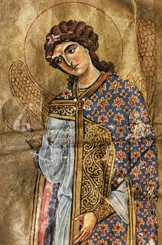 Byzantine Icons, Byzantine Art, Religious Icons, Religious Art, Gabriel, Order Of Angels, Medieval Paintings, Christian Images, Archangel Michael