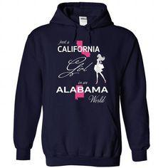 Awesome Tee CALIFORNIA GIRL IN ALABAMA WORLD T-Shirts