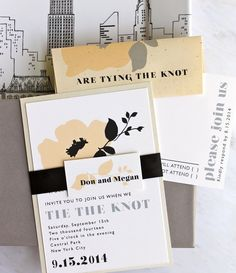 Retro Love - Vintage, Mod Wedding Invitations, Mad Men, 1960's and Zou Bisou Bisou Inspired - Purchase to Start the Ordering Process. $100.00, via Etsy.