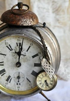 vintage clock + antique timepiece