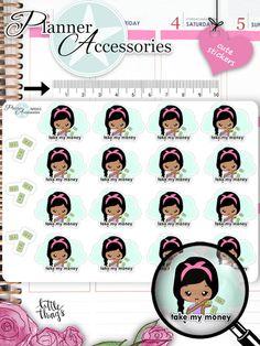 Sticker - Take My Money Sticker NR963 - ein Designerstück von PlannerAccessories bei DaWanda