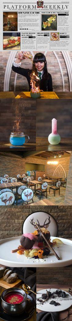 Platform 1094, Singapore // Harry Potter themed cafe
