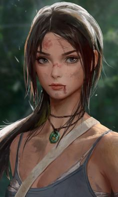 Tomb raider, lara croft, video game, artwork, wallpaper You are in the right place about Video Games illustration Here we offer you the most beautiful pictures about the Video Games artwork yo Tomb Raider Lara Croft, Lara Croft Game, Tomb Raider Cosplay, Art Anime Fille, Anime Art Girl, Digital Art Girl, Digital Portrait, Fantasy Women, Fantasy Girl