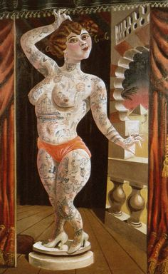 german-expressionists: Otto Dix, Suleika, das tätowierte Wunder (Suleika, the Tattooed Wonder), 1920