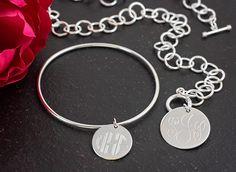 Silver Monogram Jewelry #behandpicked