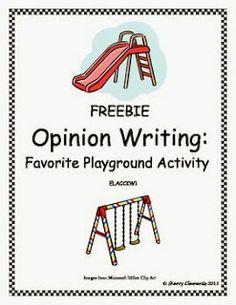 http://www.teacherspayteachers.com/Product/Opinion-Writing-Favorite-Playground-Activity-642902